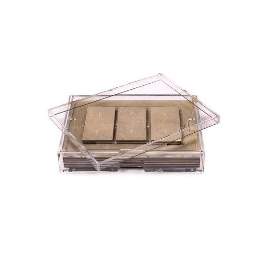Grand Matbox Clear Shagreen Natural