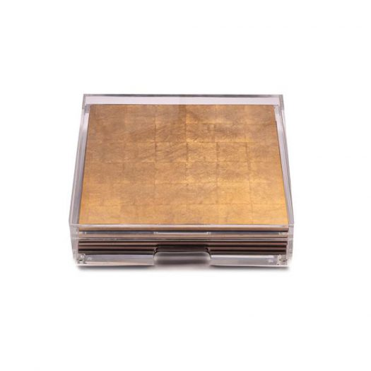 Placebox Clear Silver Leaf Matte Gold