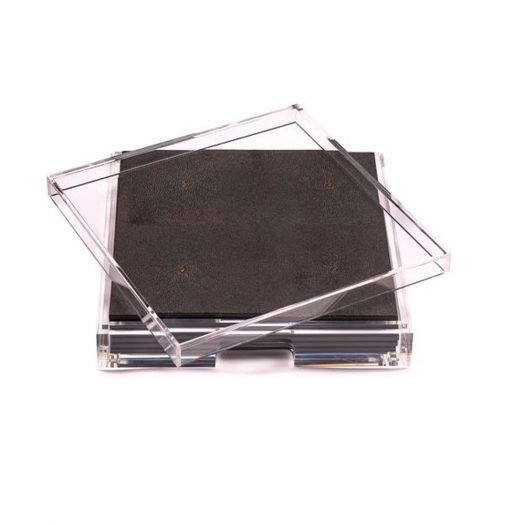 Placebox Clear Shagreen Chocolate