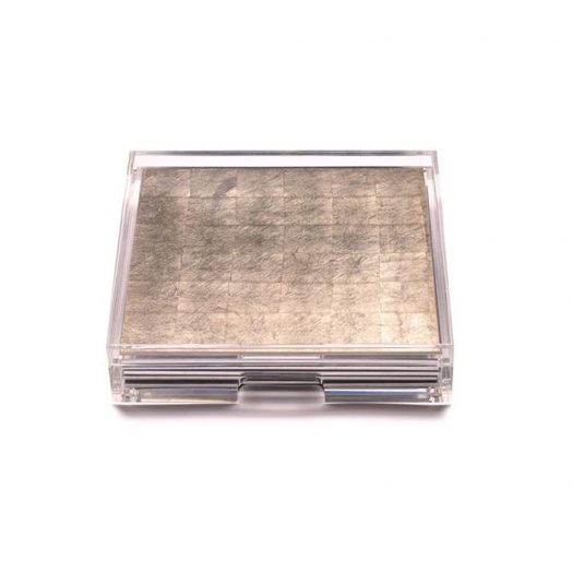 Placebox Clear Silver Leaf Matte Champagne