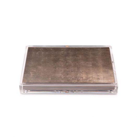 Servebox Clear Silver Leaf Matte Taupe