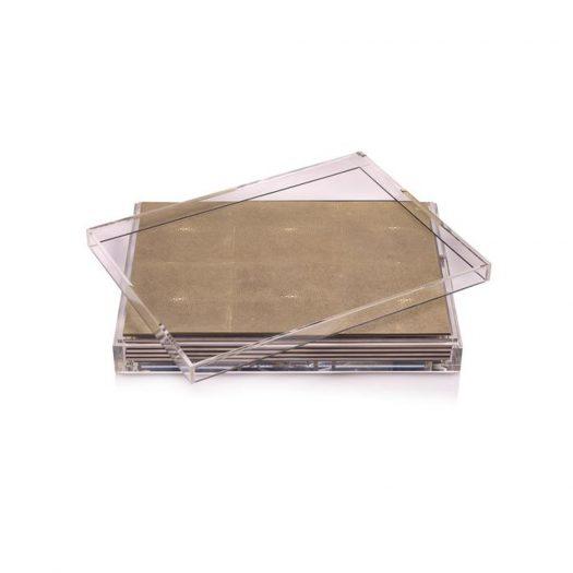 Servebox Clear Shagreen Natural