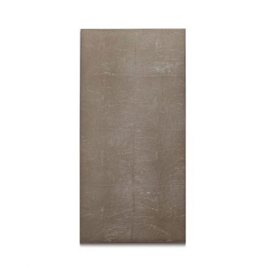 Silver Leaf Double Coaster Silver Leaf Matte Taupe