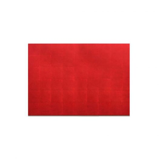 Silver Leaf Serving / Mat Placemat Silver Leaf Matte Red