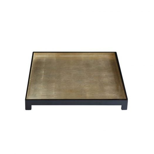 Windsor Tray Square in brushed Silver Leaf