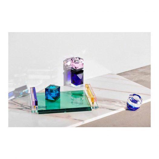 Panama Tray Clear/Rose/Cobalt/Yellow/Emerald