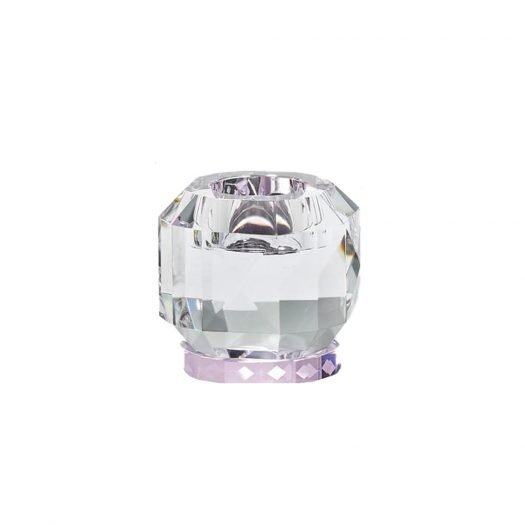 Texas Crystal T-Light Holder Clear/Rose