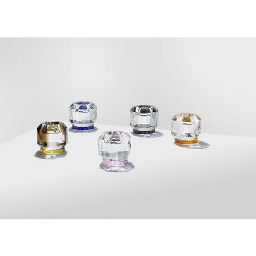 Texas Crystal T-Light Holder Clear/Colbalt