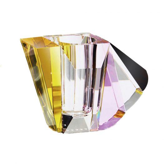 Manhattan Vase Clear/Yellow/Brown/Rose
