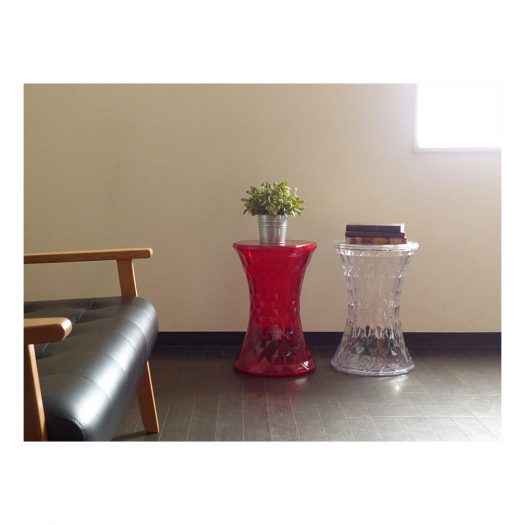 Stone Stool Red