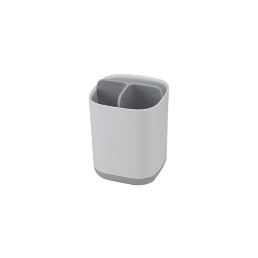 EasyStore Toothbrush Caddy, White and Grey
