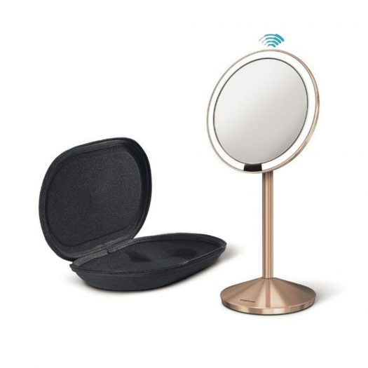 Sensor Mirror Mini With Travel Case, Rose Gold