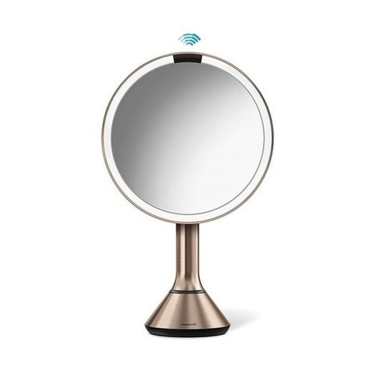 Sensor Touch Control Mirror, Rose Gold