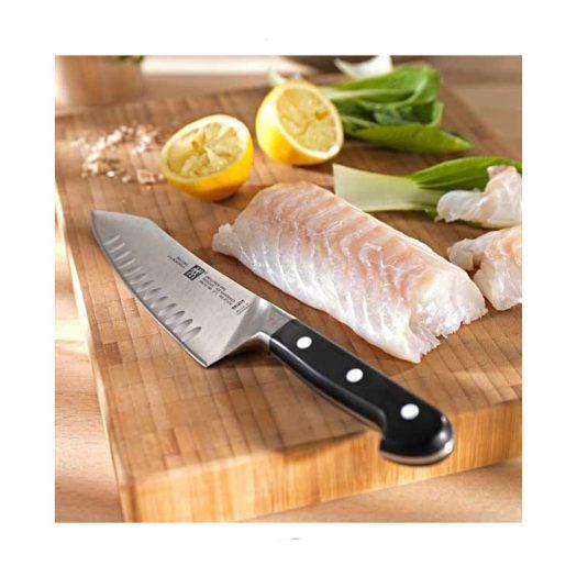 Pro Santoku Knife With Hollow Edge, 18 cm