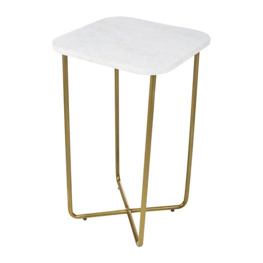 Cross Bottom Marble Table