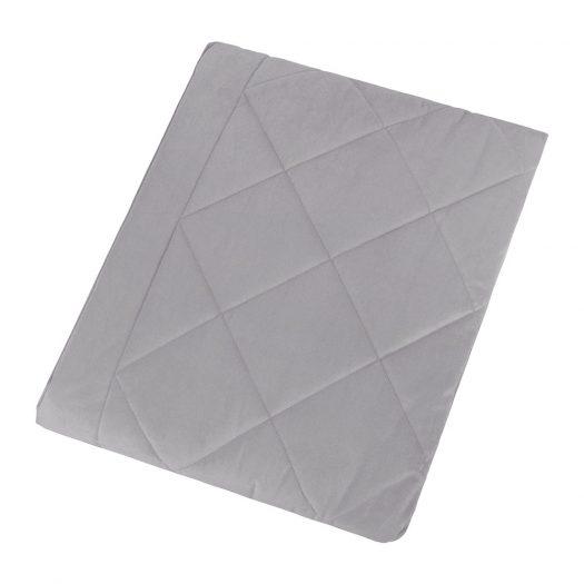 Diamond Velvet Bedspread - Grey - 140x200cm