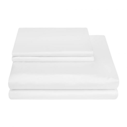 500 Thread Count Sateen Duvet Cover - White - Double