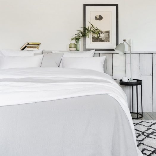 500 Thread Count Sateen Duvet Cover – White – Double
