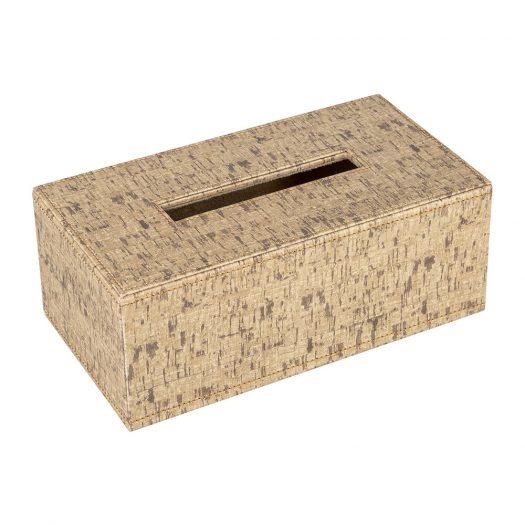 Faux Leather Tissue Box - Cork Effect