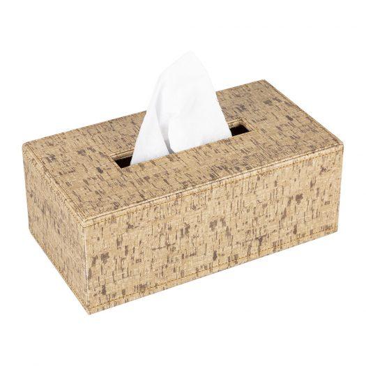 Faux Leather Tissue Box – Cork Effect