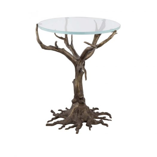 Quercia Side Table with Glass Top