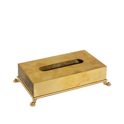 Brass Rectangular Tissue Box Holder