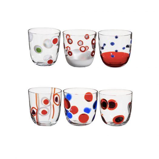 I Diversi Set of 6 Red Glasses N. 1