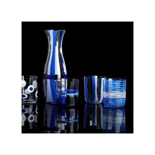 I Diversi Set of 6 Blue Glasses N. 1