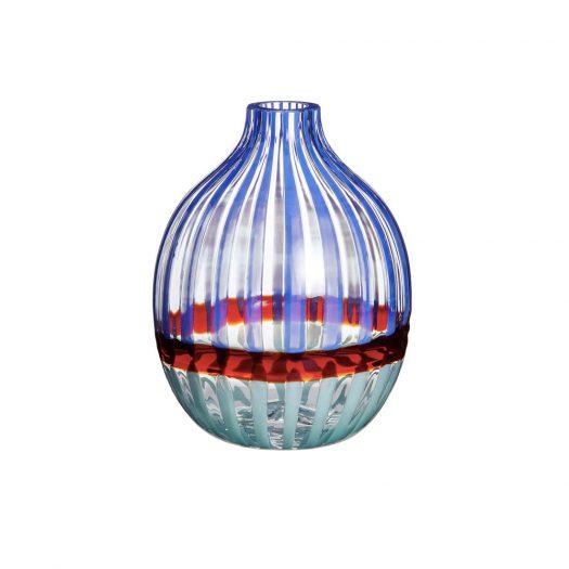 Singleflower Blue/Red Vase N. 1