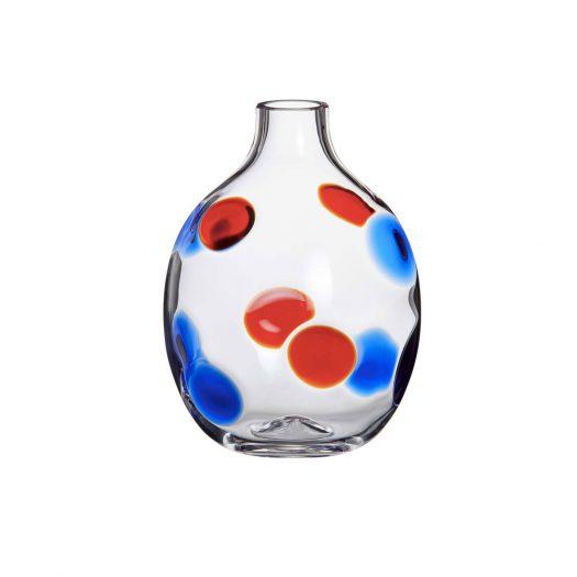 Singleflower Blue/Red Vase N. 2