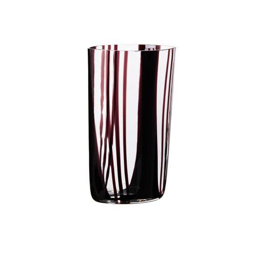 I Piccoli Striped Burgundy Vase Limited Edition
