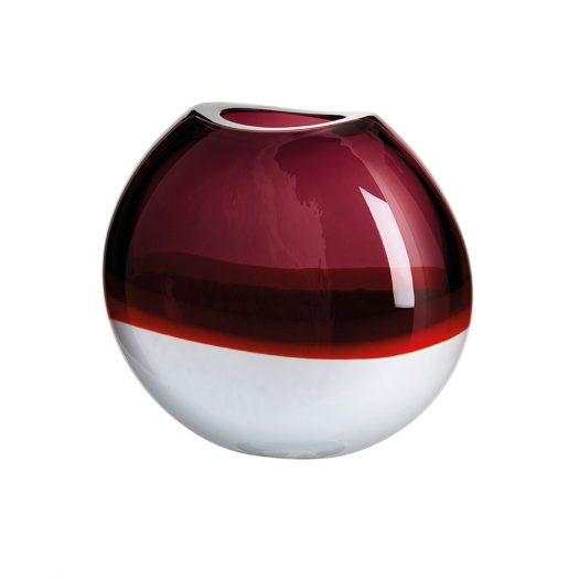 I Piccoli Round Burgundy Vase Limited Edition