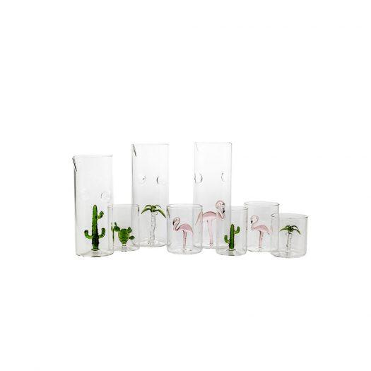 Fenicottero Set of 4 Glasses and Pitcher