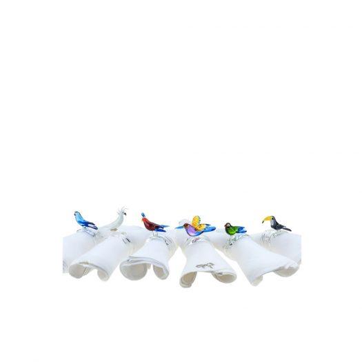 Tropical Bird Set of 6 Napkin Rings