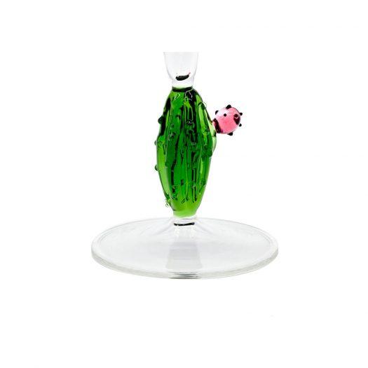 Cactus Mania Set of 4 Flutes in Green
