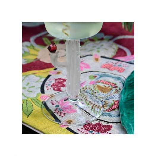 Cactus Mania Set of 4 Frosted Wine Glasses