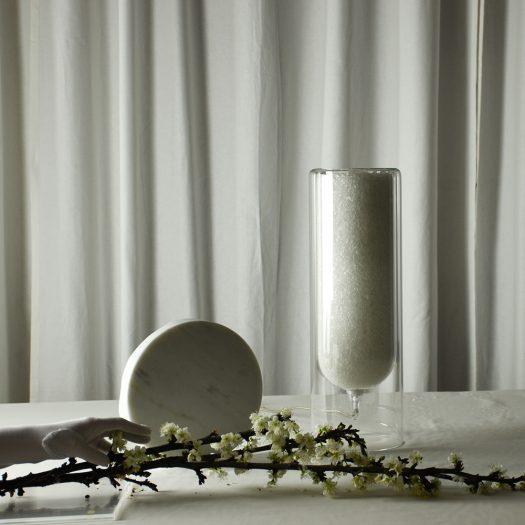 Spherical M White Table Lamp