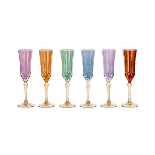 Set of 6 Doge Champagne Chalices