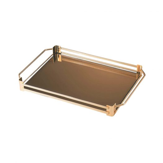 Small Gold Mirrored Serving Tray