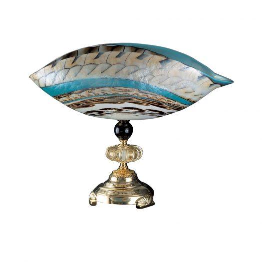 Murano Curved Glass Center Piece