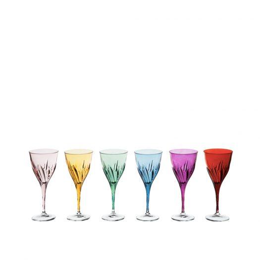 Club Set of 6 Water Stem Glasses