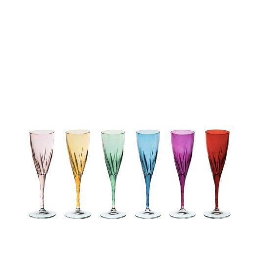 Club Set of 6 Champagne Flutes