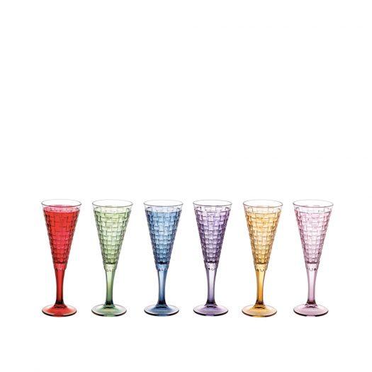 Manhattan Set of 6 Champagne Flutes