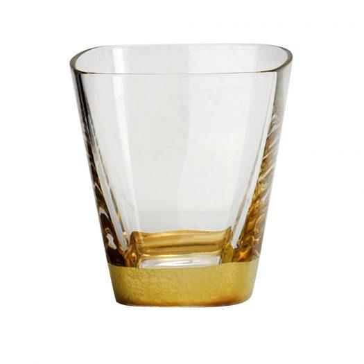 Golden Water Glass