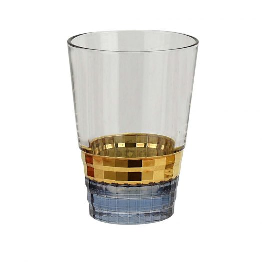 Gold and Blue Glass