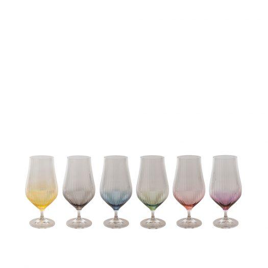 Tulyp 06 Set of 6 Stemmed Water Glasses