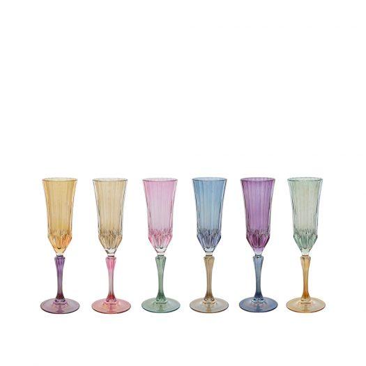 Ada 03 Set of 6 Champagne Flutes