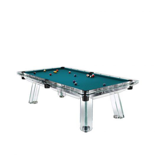 Filotto Petroleum Blue/Black Billiard Table