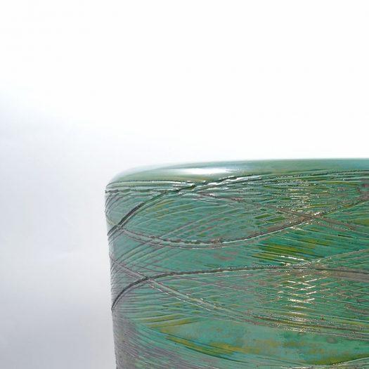 Birillo Graphium Green Vase