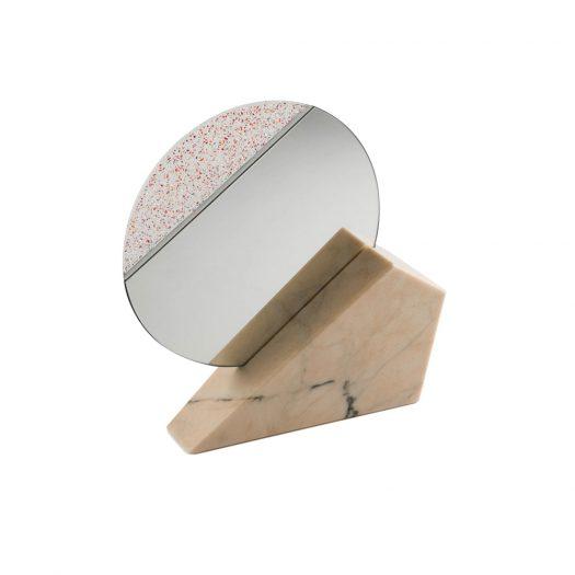 Full Moon Pink Table Mirror